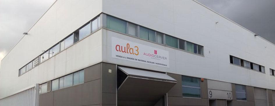 Audiocerver, nave de venta al por mayor, proyecto de apertura realizado por la ingeniería de Barcelona OTP Global Engineering
