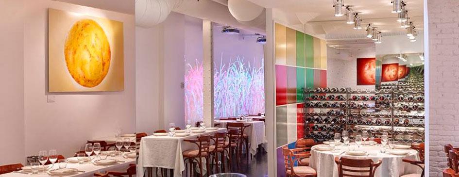 Interior del restaurante Rice! by Sanchez Romera, proyecto de obras por la ingeniera de Barcelona OTP Global Engineering