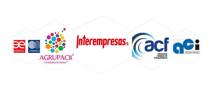 interempresas, associació empresarial de l'hospitalet i baix llobregat (aeball), associació catalana de franquiciadors, Associació de Consultors d'Instal·lacions.