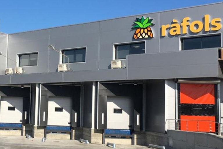 Nau industrial de Fruits Ràfols a Mercabarna, projecte realitzat per l´enginyeria de Barcelona OTP