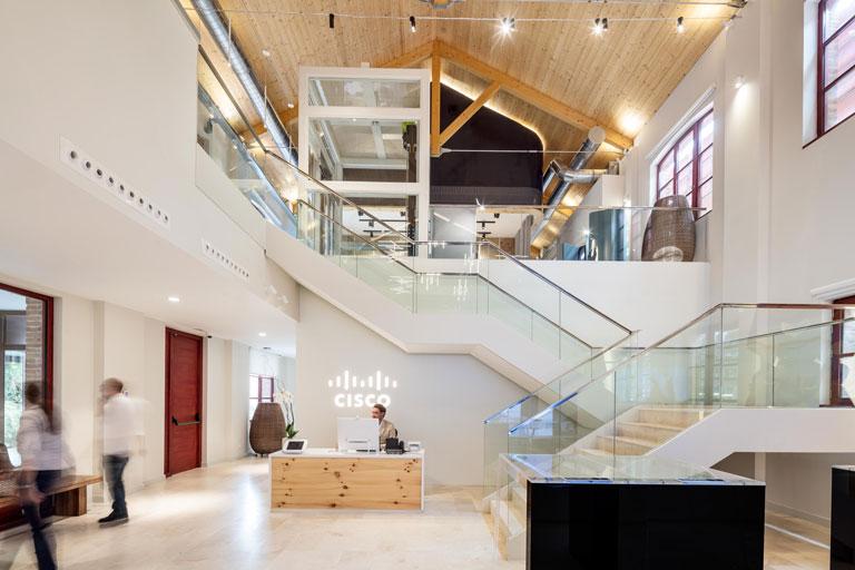 Oficinas de la multinacional Cisco en el 22 @ de Barcelona, proyecto para OTP ingeniería
