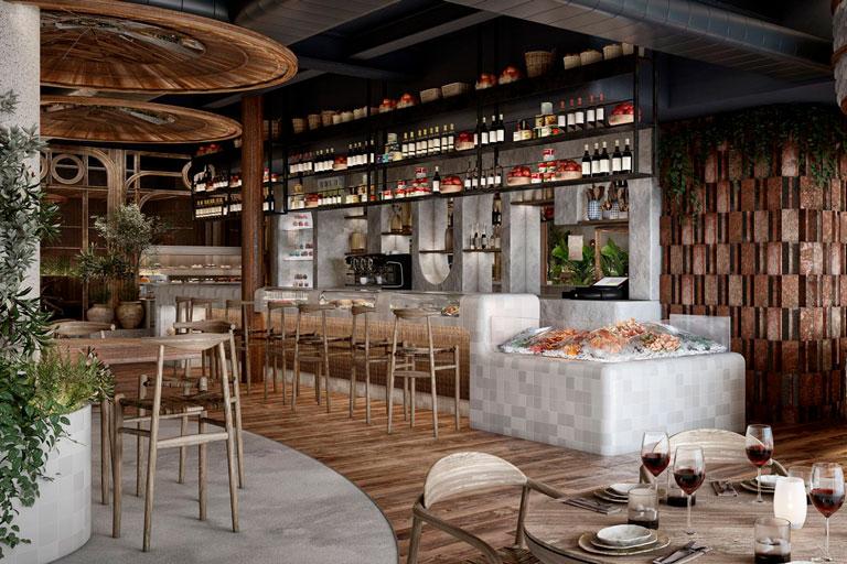 Restaurant de cuina mediterrània situat a la rambla de Catalunya de Barcelona. OTP ha realitzat el projecte executiu de les instal·lacions.