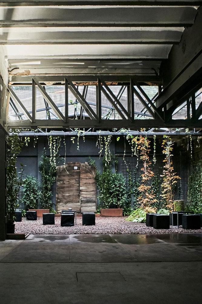 Jardín de la sala de eventos, Màfic Space, proyecto realizado por OTP Ingeniería