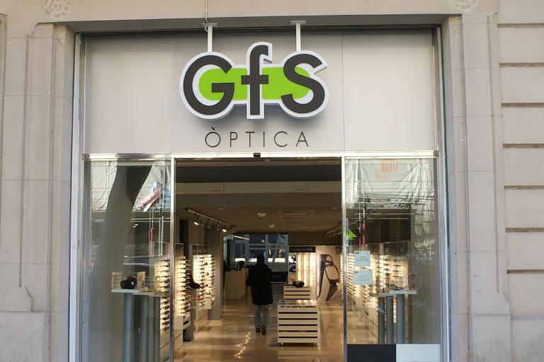 Optica Gfs situat a la ronda Sant Pau de Barcelona