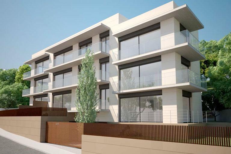 Promocio de viviendas en la calle sant cugat de Barcelona