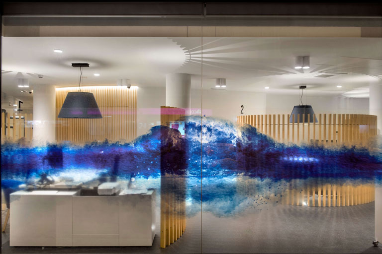 Oficina a Badalona de l´empresa Aigües de Barcelona, projecte realitzat per l´enginyeria de Barcelona OTP Global Engineering