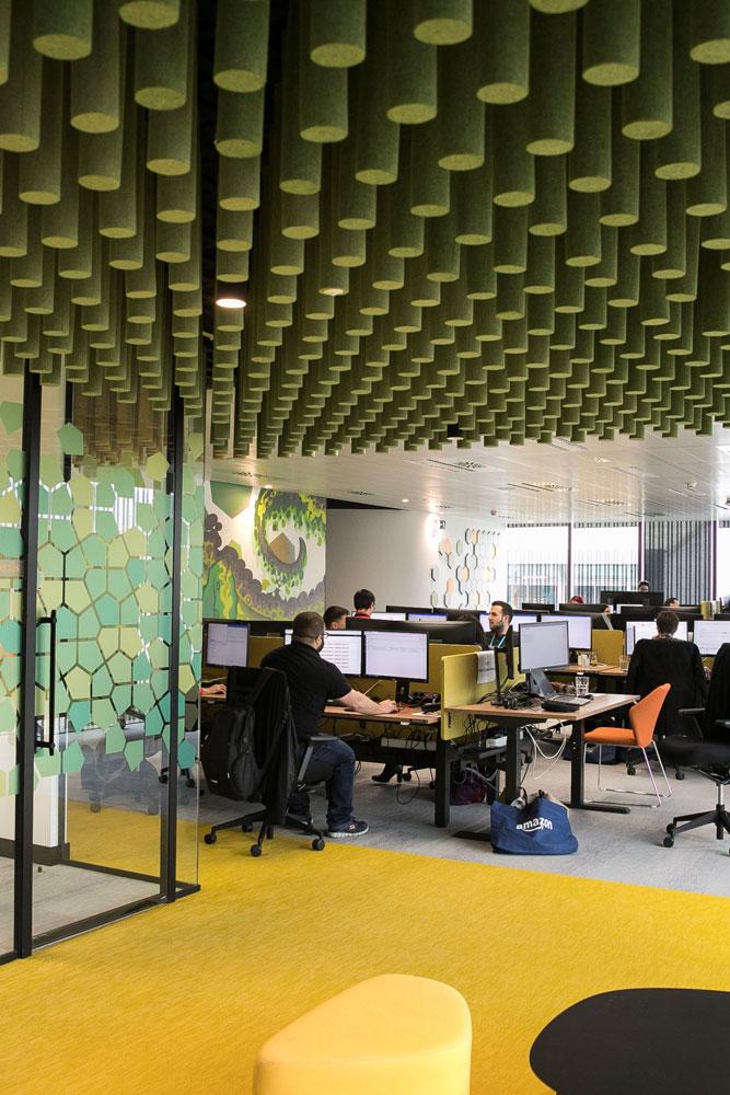 BCN10 amazon oficines al 22 @ de Barcelona, projecte d'activitat realitzat per a l'enginyeria OTP Global Engineering