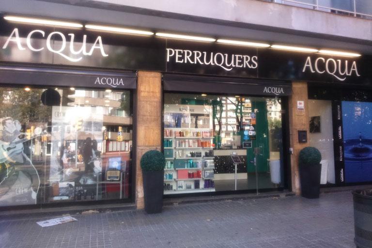 Acqua peluquería en el barrio de Les Corts de Barcelona, proyecto realizado por la ingeniería de Barcelona OTP Global Engineering